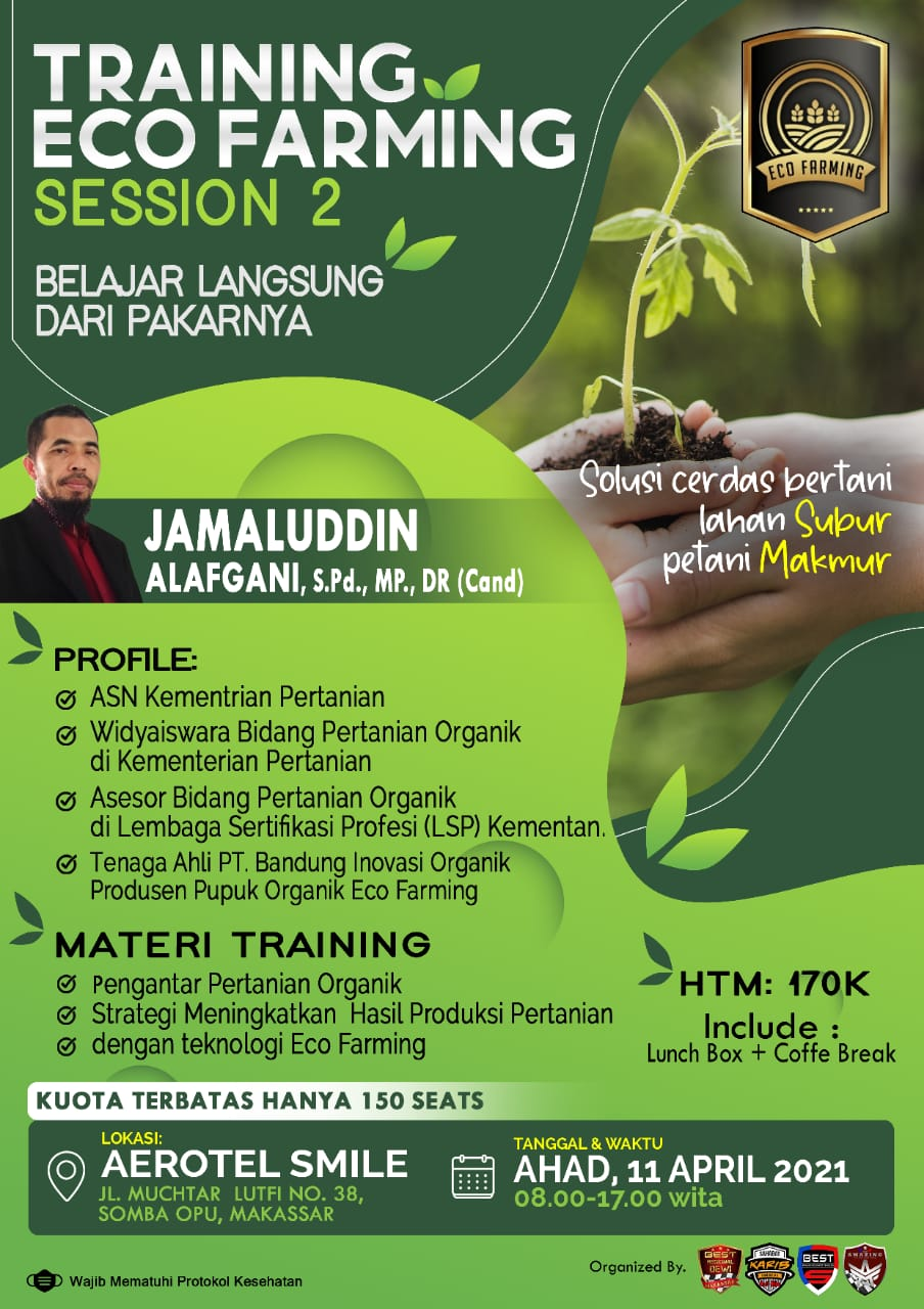 training eco farming sinergy ecoracing
